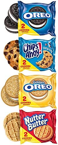 Oreo Original, Oreo Golden, Chips AHOY! & Nutter Butter Cookie Snacks Variety Pack