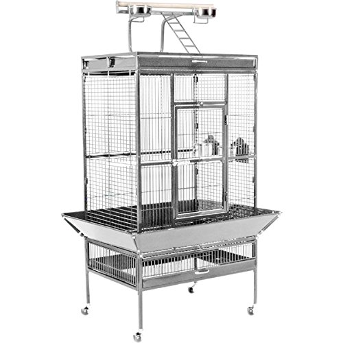 Prevue Pet Products Wrought Iron Select Bird Cage 3153W, Pewter, 30-Inch by 22-Inch by 63-Inch from Prevue Hendryx