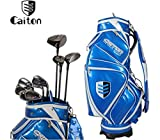 Caiton Men's R-Flex Right Hand Complete Package Golf Club Set with Stand Bag 11 Pcs Club