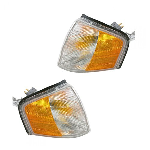 Side Corner Marker Parking Turn Signal Lights Pair Set for Mercedes C Class (Turn Signal C280)
