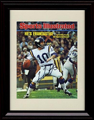 Framed Fran Tarkenton Sports Illustrated Autograph Replica Print - 11/10/1975