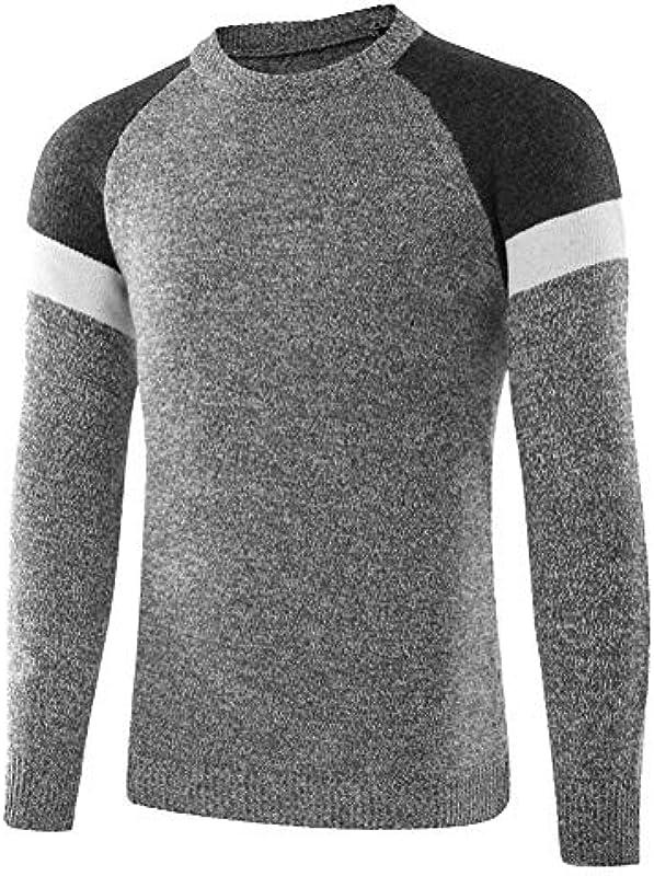 Męski sweter dziergany Top Basic Knitwear odzież bluza sweter drobno dziergany sweter: Odzież