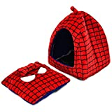 PAWZ Road Pet Cave Dog Kennel Spiderman Style with a Cute Mat M