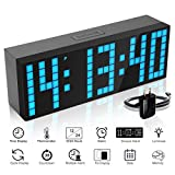 jumbo timer - ECVISION Large Big Number Jumbo LED snooze wall desk Alarm clock count down timer with calendar