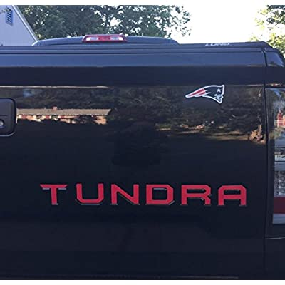 BDTrims Tailgate Raised Letters Compatible with 2014-2020 Tundra Models (Red): Automotive