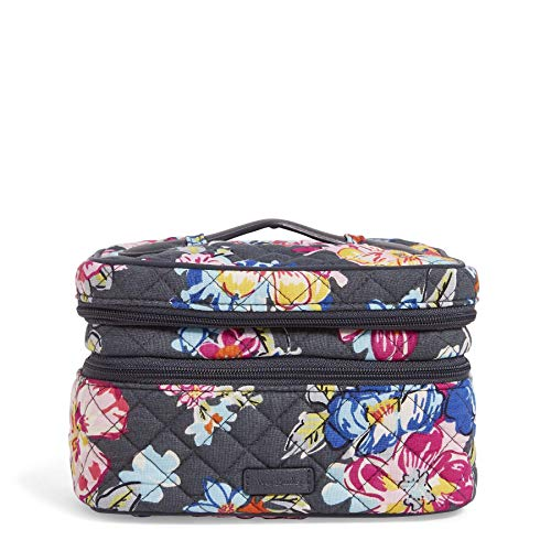 (Vera Bradley Iconic Jewelry Train Case, Signature Cotton, Pretty Posies)