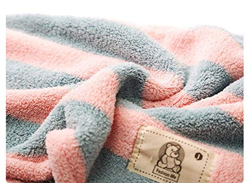 Obvie Microfiber Hair Towel Wrap Super Absorbent with Bath Sponge Glove 3 Pack