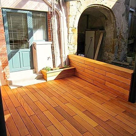 Lame De Terrasse En Bois Exotique Garapa Kd 19x140 Epaisseur 19mm Largeur 140mm Lisse 2 Faces Bois Exotique Garapa 1 85