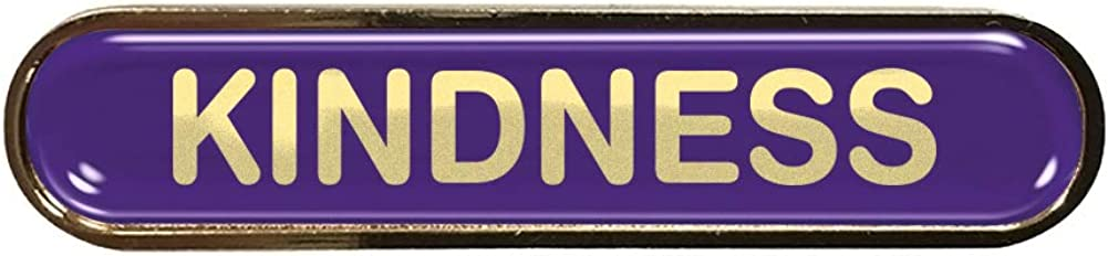 Capricornone Kindness Violet School Bar Badge
