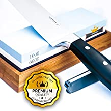 Culinerro - Premium Knife Sharpening Stone-1000/6000 Grit Japanese Sharpener Waterstone - Includes Non-Slip Base and Angle Guide for Chef, Kitchen, Pocket Knife and Scissors