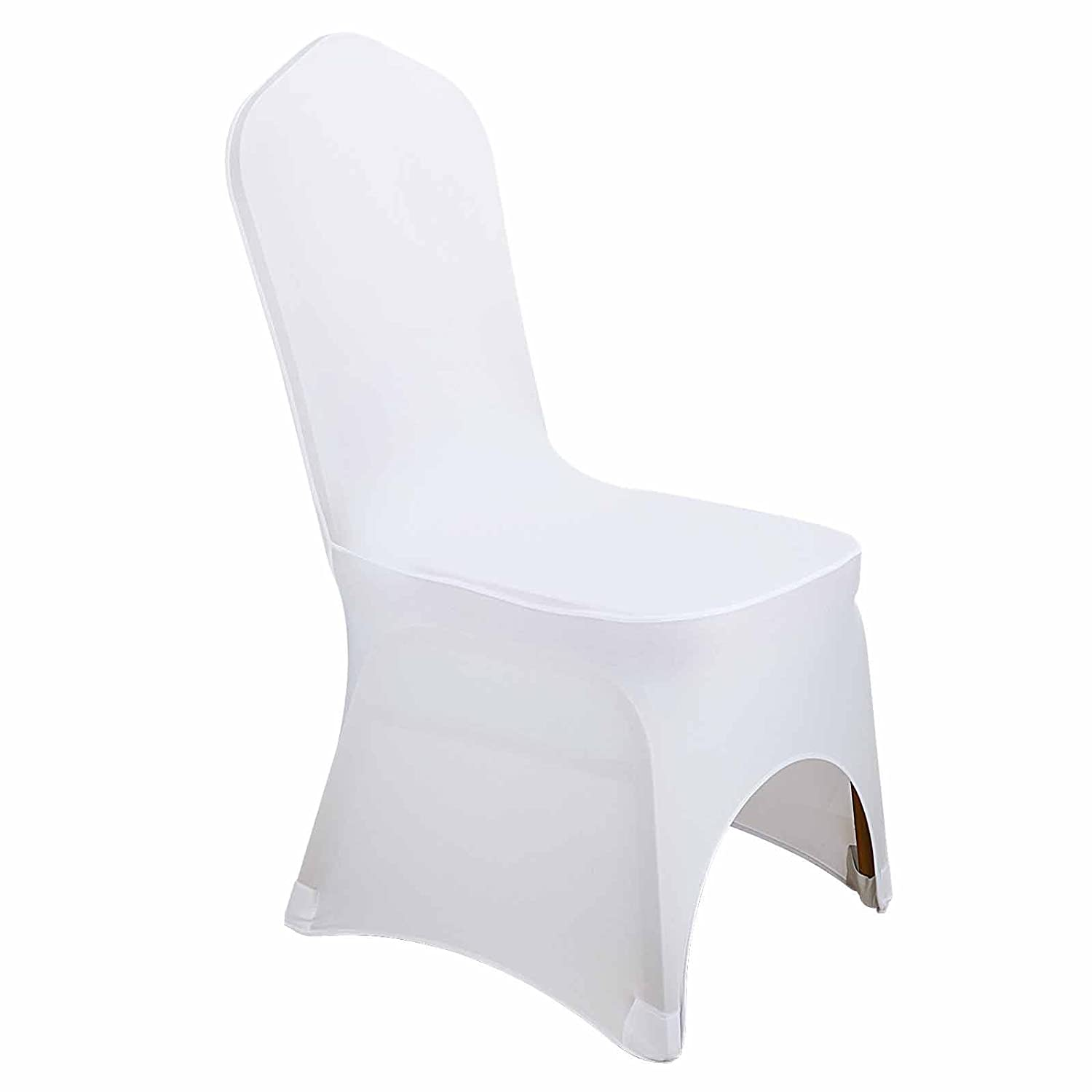 Amazon Voilamart 50pcs Chair Covers White Polyester Spandex