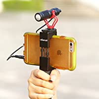BOYA Video Microphone with Handle Grip Tripod for iPhone Filmmaking rig stabilizer Live Streaming shotgun Mic