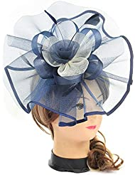 f91581e8fa7 Fascinators Hats for Women Big Mesh Flower on a Hairband Tea Party Hat for  Girls