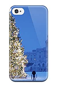 New Style Hard Case Cover For Iphone 4/4s- Christmas Trees Pictures 8076790K89768445