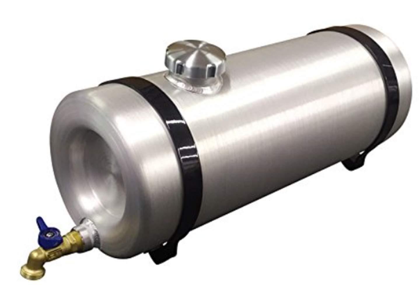Round Aluminum 5 Gallon Water Storage Tank - Dog Box - Stock Trailer - Camping