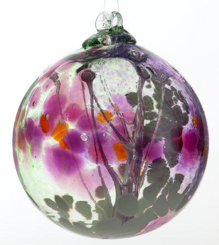 Kitras 6-Inch Fairy Orb Art Glass, Fuchsia ()