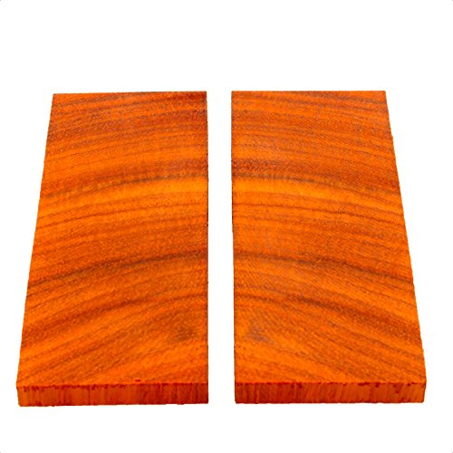 (Maragos Wood Bookmatched Exotic Wood Knife Scales (Crosscut Padauk, 3/8
