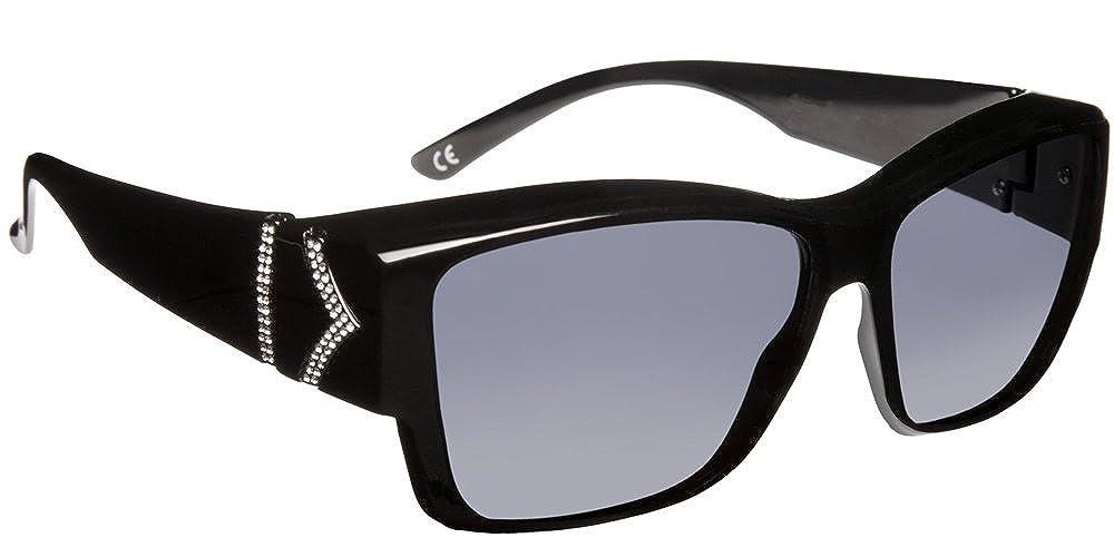 Haven Fitover Sunglasses Stella in Black Chevron & Polarized Grey Lens