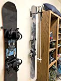 StoreYourBoard Ski Wall Storage Rack, Steel Home