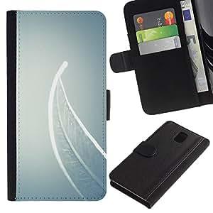 Be Good Phone Accessory // Caso del tirón Billetera de Cuero Titular de la tarjeta Carcasa Funda de Protección para Samsung Galaxy Note 3 III N9000 N9002 N9005 // Meaning Deep Grey Gr