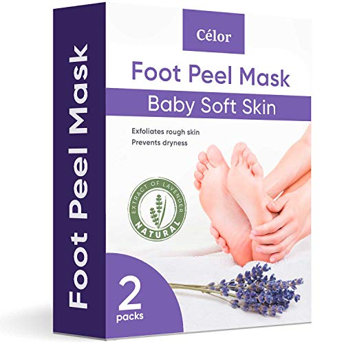 Foot Peel Mask - Foot Mask 2 Pack for Baby Feet and Remove Dead Skin - Baby Foot Peel Mask with Lavender and Aloe Vera Gel for Men and Women Feet Peeling Mask