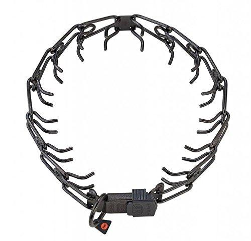 Herm Sprenger Black Stainless Steel Prong Buckle Collar medium 3.25 mm x 22'' (50108) by Herm Sprenger