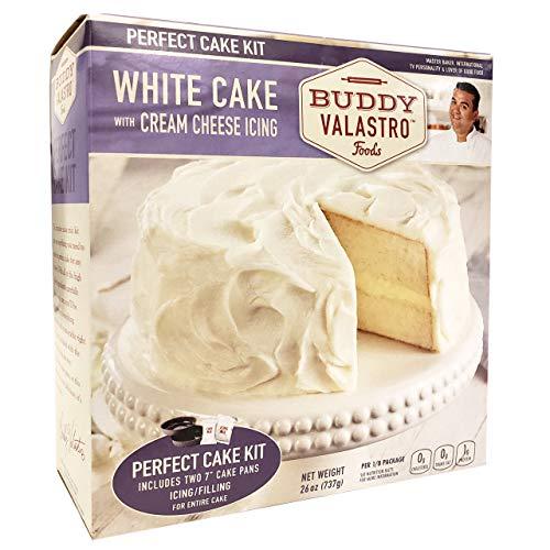 Buddy Valastro Foods Perfect Cake Kits - Cake Mix, Cake Pans, Icing, and Filling (White Cake)