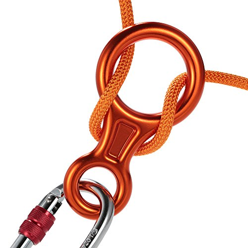 Ezyoutdoor 35KN 8 Shape Descender Outdoor Rock Climbing Carabiners Abseiling Downhill Safety Ring For Device Climbing Equipment Random (Black Diamond Rocklock Twist Lock)
