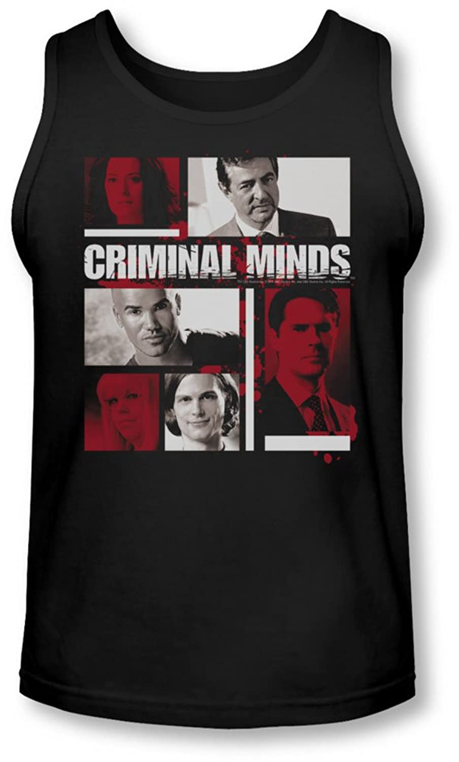 Criminal Minds - Mens Character Boxes Tank-Top