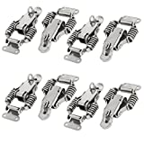 uxcell 58mm Length 304 Stainless Steel Straight Loop Toggle Latches Catch Hasp Clamp 8pcs