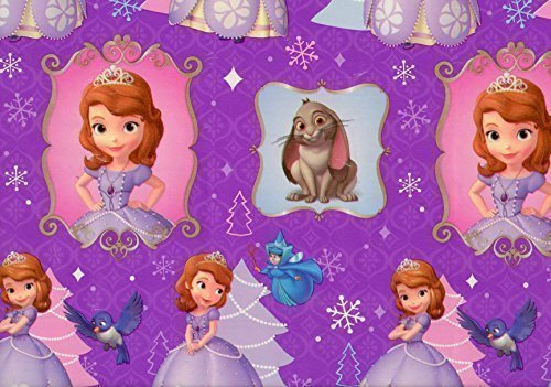 - Disney's Sofia the First Christmas Wrapping Paper Gift Wrap Roll - 40 Square Feet - Officially Licensed - Brand New - #W14-4107 by American Greetings