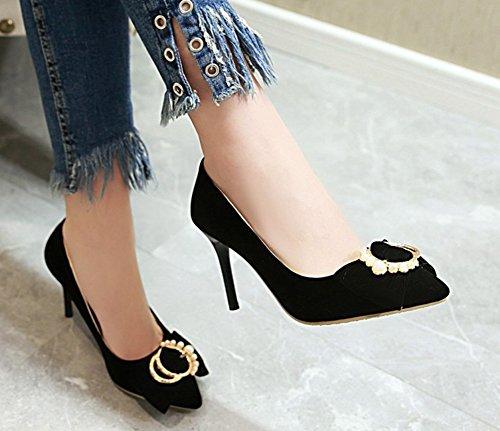 Pointues Basse Aisun Mariage Femme Escarpins Sexy Noir Chaussures De qwwxHECfO