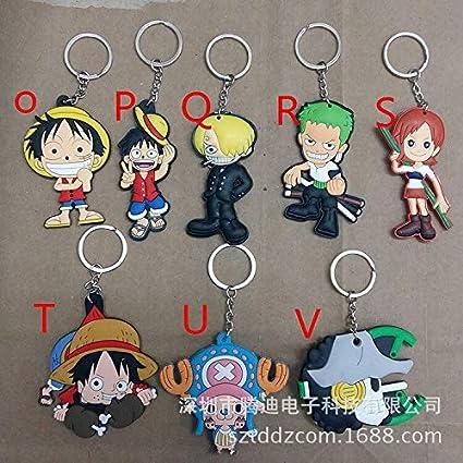 Amazon.com: JACINTA Cartoon One Piece Series - Llavero de ...