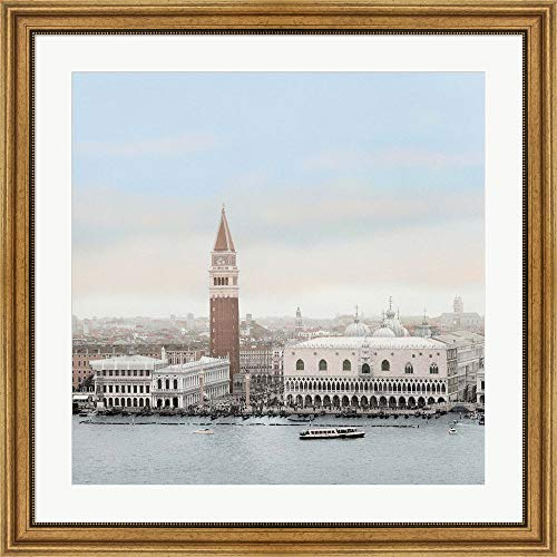 32 Marco Bronze San - Piazza San Marco Vista by Alan Blaustein Framed Art Print Wall Picture, Wide Gold Frame, 32 x 32 inches