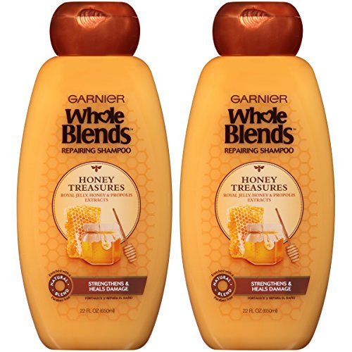 Garnier Hair Care Whole Blends Repairing Shampoo Honey Treasures for Damaged Hair, 2 Count