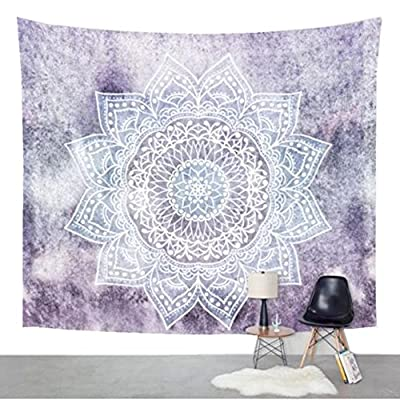 Jiamingyang Flower Elephant Print Wall Hanging Tapestry Bohemian Room Decor Bedding Rug