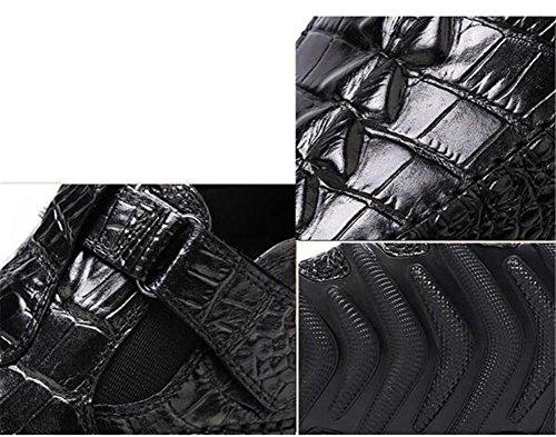 de genuino talla cuero de Zapatos Conducción marrón impresión Casual mocasín hombre cocodrilo 38 Slip de de inteligente black a 44 on suela de pulpo imitación negro 1xf6n