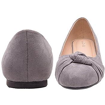 Women's Wide Width Flat Shoes - Comfortable Slip On Round Toe Ballet Flats. (Mc Grey 180303,8.5ww) 4