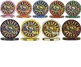 Nevada Jacks Casino Ceramic Poker Chips Sample Set - 9 New Chips