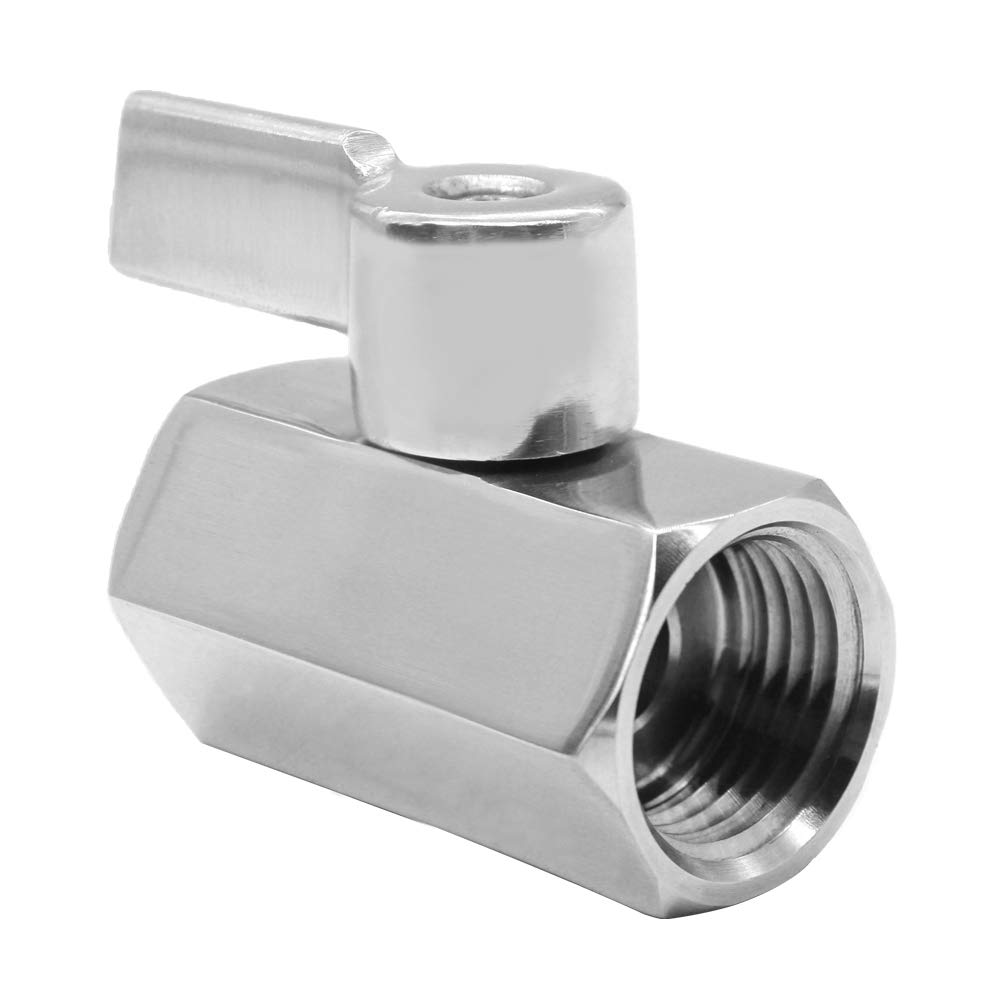 1//4 NPT Female x NPT Female Mini Ball Shutoff Valve Beduan Mini Ball Valve Stainless Steel 316