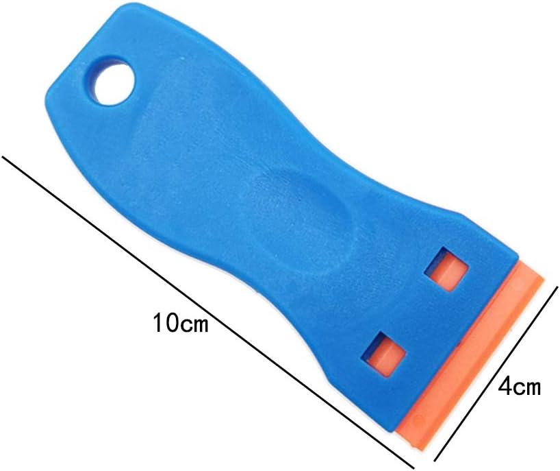 bleu Grattoir autocollant pour enlever les /étiquettes propres fen/êtres en plastique pour voiture