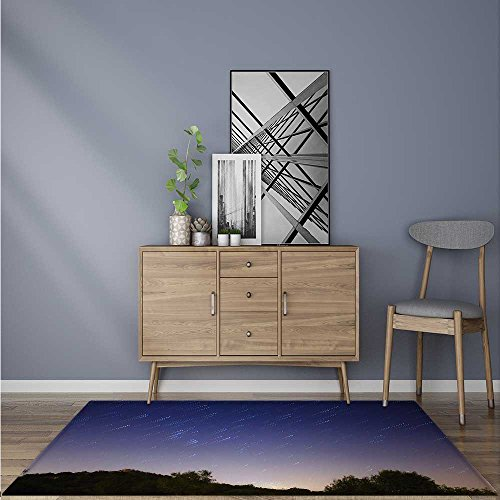 (Modern Rugs A Meteor Shower on The Mountain Resistant Contemporary Soft Plush Quality 5' X 8')