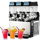 VBENLEM Commercial Slushy Machine110V 600W Frozen Drink Machine Commercial Slushy Maker for Supermarkets Cafes Restaurants Snack Bars 12Lx3Tank
