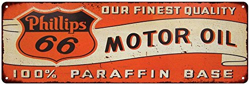 Phillips 66 Motor Oil Vintage Look Reproduction 6X18 Metal Sign 6180093