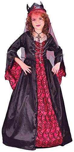 Dark Bride Costumes For Kids (Child Bride of Satan Costume - Small (4-6))