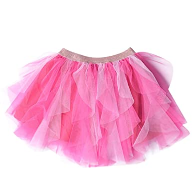 65399d25d Image Unavailable. Image not available for. Colour: HEETEY Tutu Dress Baby,Kids  Girl Tulle Irregular Pettiskirt Princess Tutu Skirt Tiered Dancewear Party