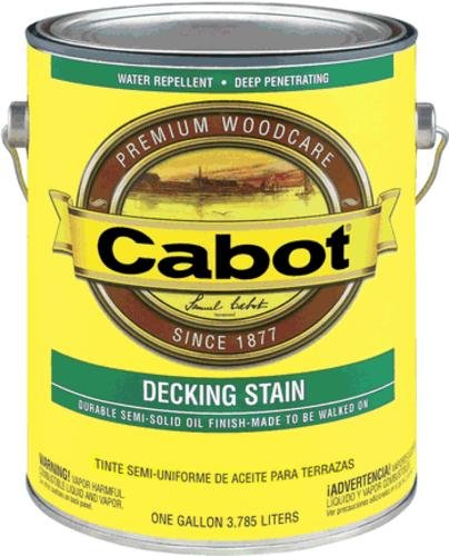 CABOT SAMUEL INC 17434-07 Gallon,VOC Semi-Solid Deck & Siding Stain (Cabot Semi Solid Stain)