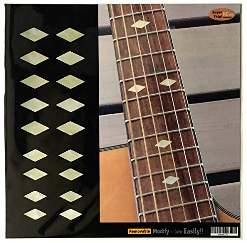 (Traditional Diamond (AWP) Fret Markers Inlay Sticker Decals Guitar & Bass)
