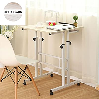 Sdadi Adjustable Height Mobile Stand Up Desk Computer Workstation