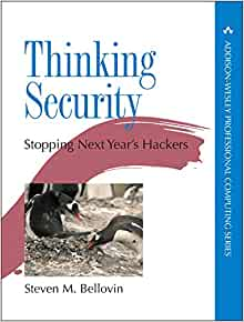 Amazon com: Thinking Security: Stopping Next Year's Hackers (Addison